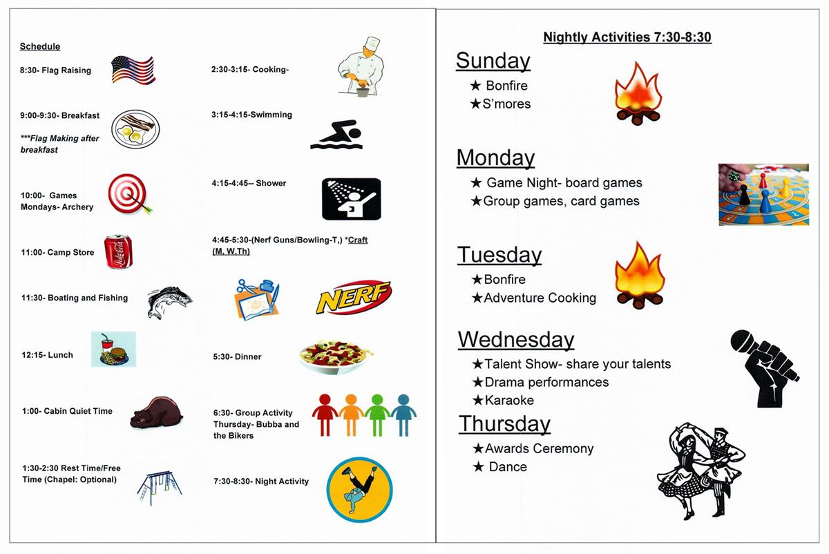 Camp Schedule