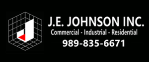 JE JOHNSON logo